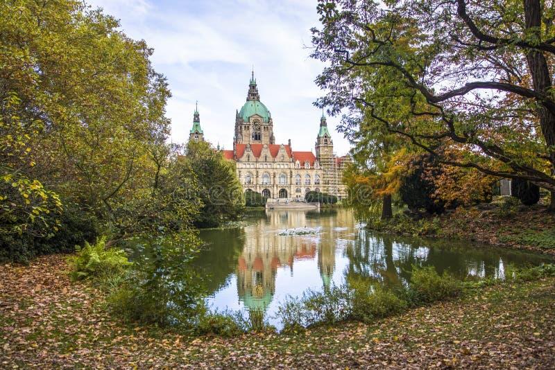 Nuovo municipio a Hannover, Germania fotografie stock