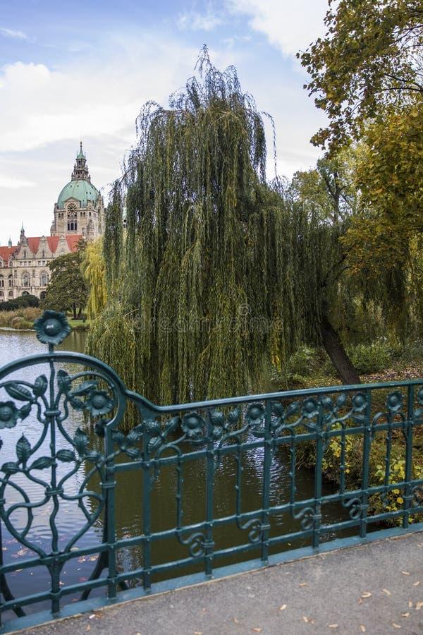 Nuovo municipio a Hannover, Germania immagine stock