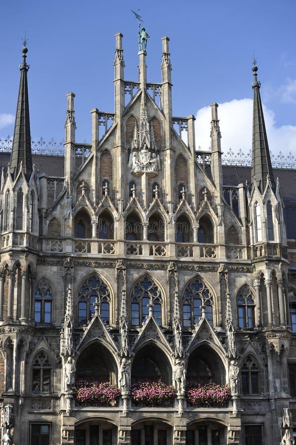 Nuovo municipio, Monaco di Baviera, Baviera, Sud-Germania fotografie stock libere da diritti