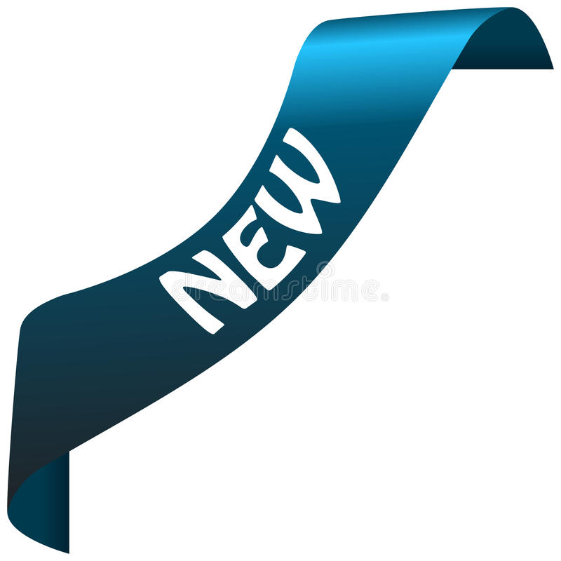 Nuovo nastro blu illustrazione di stock