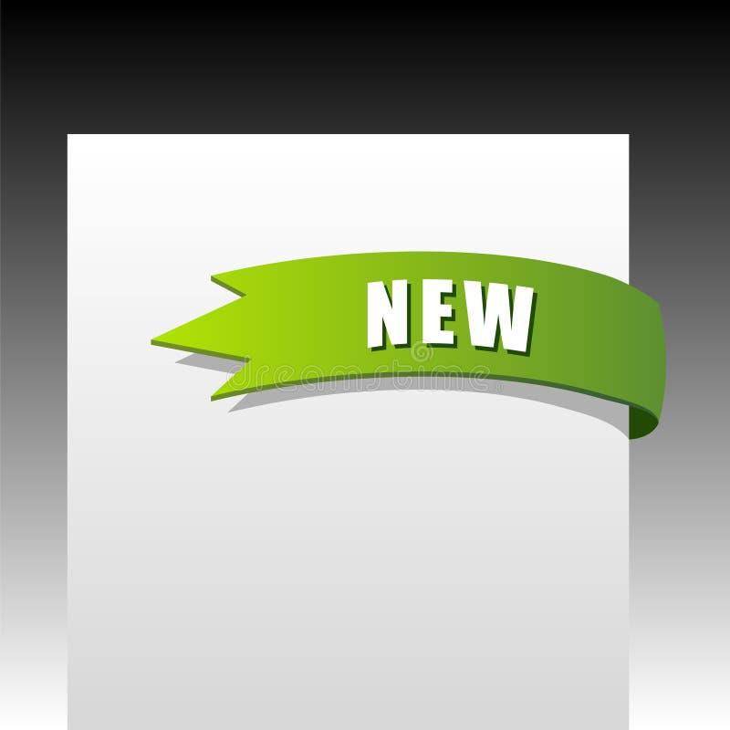 Nuovo nastro d'angolo verde di affari