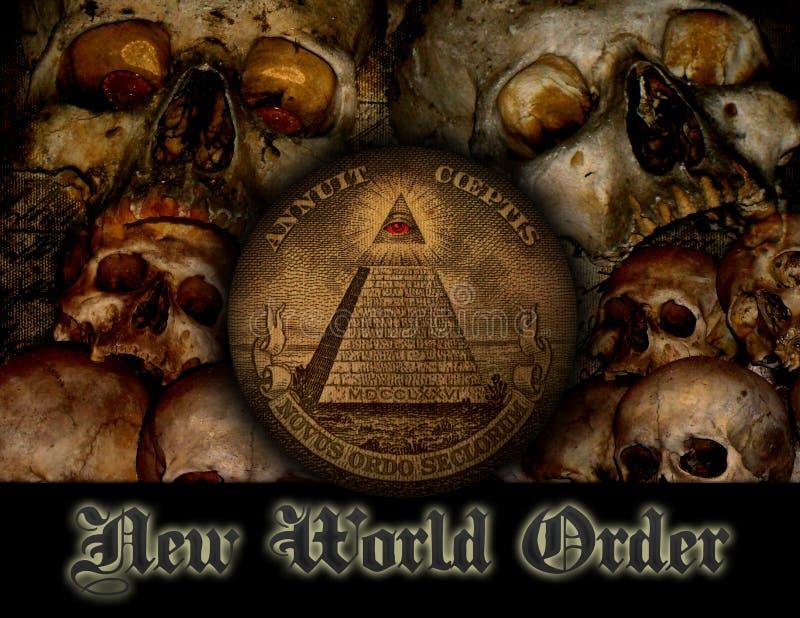Nuovo ordine mondiale illustrazione vettoriale