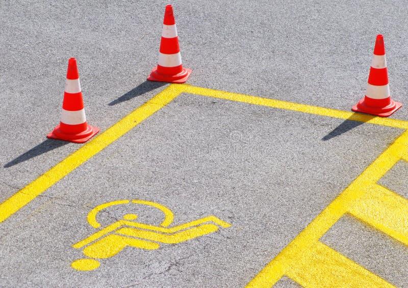 Nuovo parcheggio reso non valido immagine stock libera da diritti