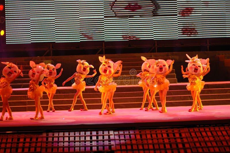 Nuovo partito felice di galà di festival di primavera del Jiangxi Year-2006 immagine stock