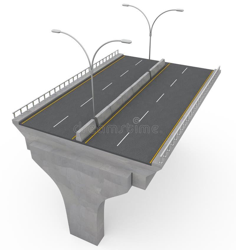 Nuovo ponticello della strada principale in costruzione illustrazione vettoriale