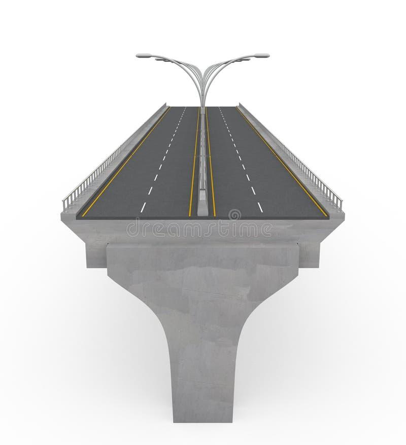 Nuovo ponticello della strada principale in costruzione illustrazione di stock