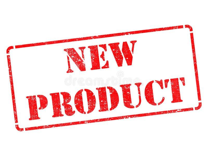 Nuovo prodotto - iscrizione sul timbro di gomma rosso. immagini stock libere da diritti