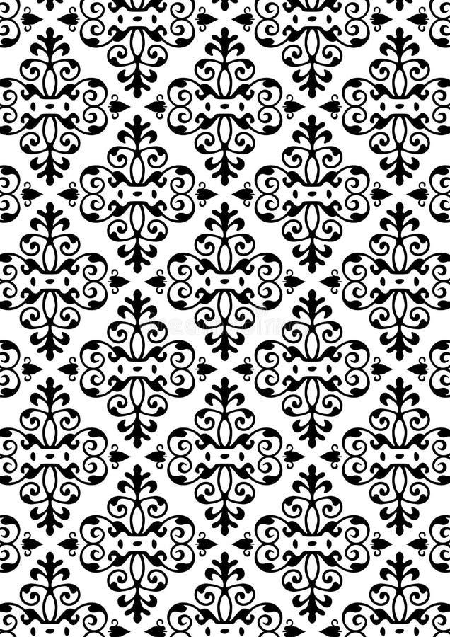 Nuovo reticolo di stile del damasco illustrazione vettoriale