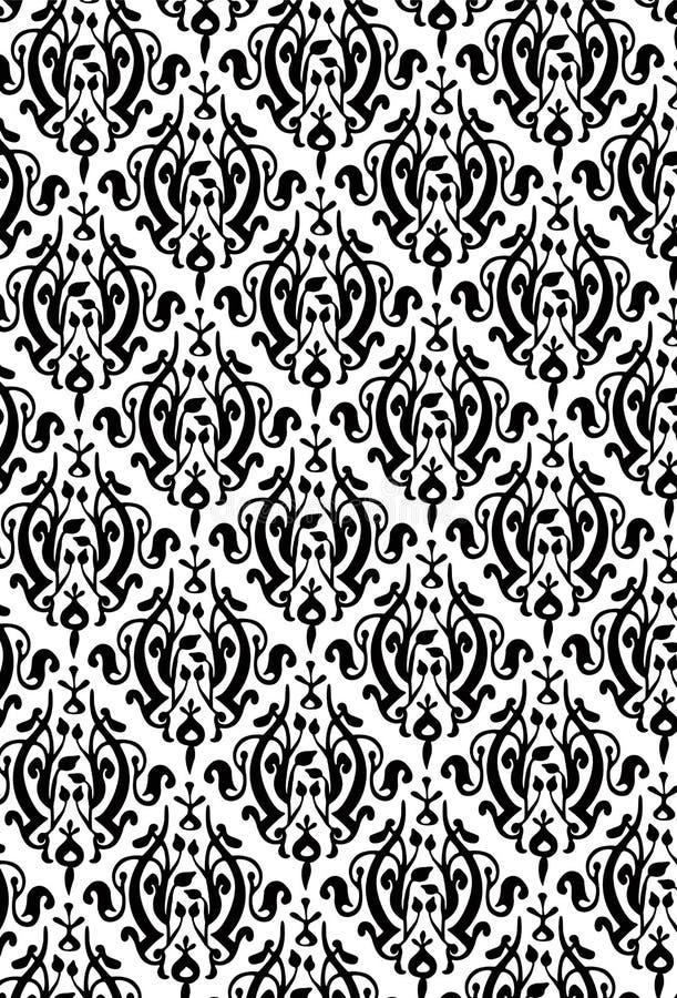 Nuovo reticolo di stile del damasco illustrazione di stock