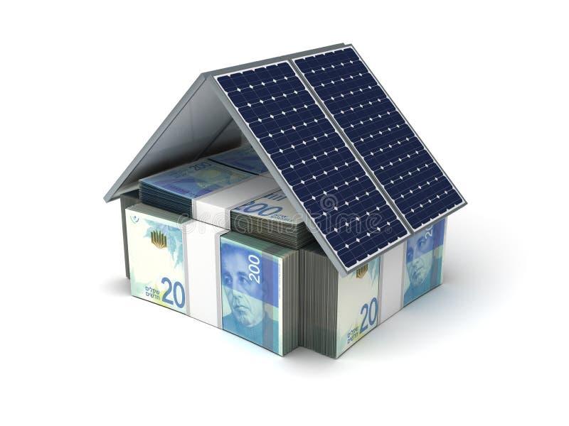 Nuovo risparmio energetico israeliano dello shekel illustrazione vettoriale