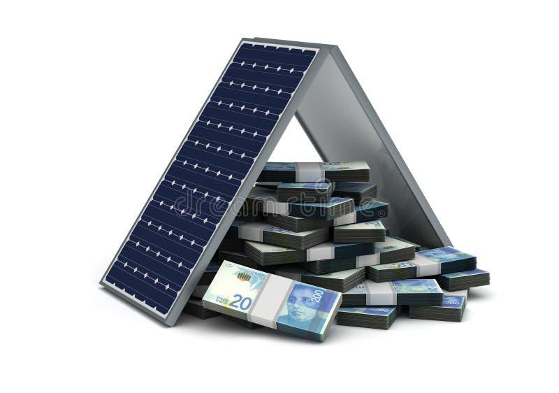 Nuovo risparmio energetico israeliano dello shekel royalty illustrazione gratis