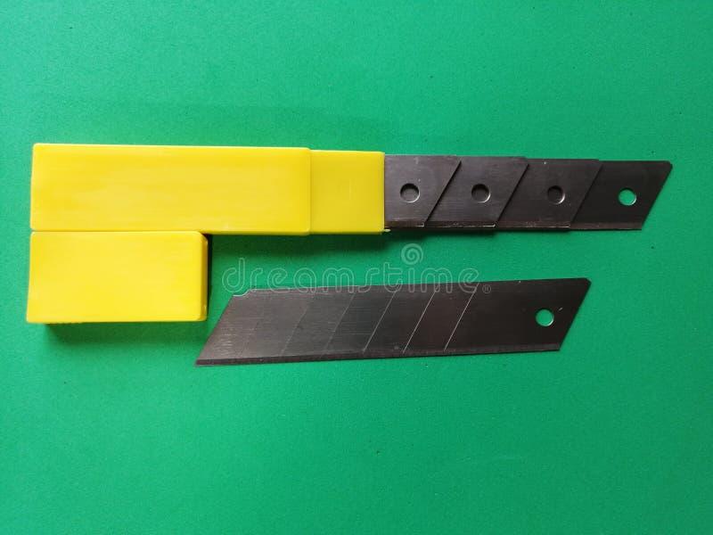 Nuovo set di lame per il coltello da ufficio fotografie stock libere da diritti