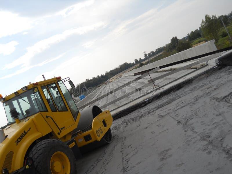 Nuovo sito della costruzione di strade fotografia stock