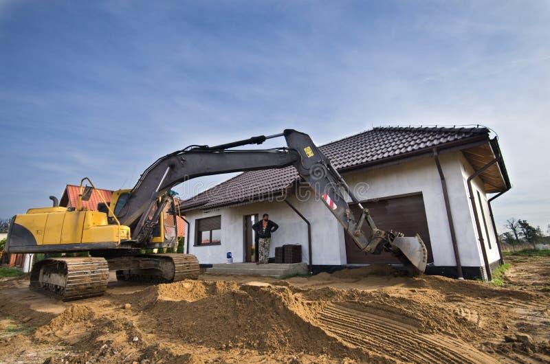 Nuovo suolo per il giardino domestico fotografie stock
