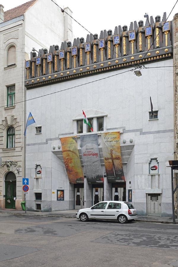 Nuovo teatro Budapest fotografie stock