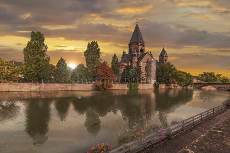Nuovo tempio Metz fotografia stock libera da diritti