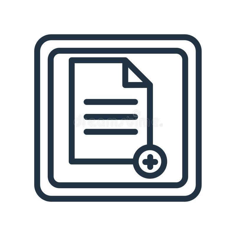 Nuovo vettore dell'icona della pagina isolato su fondo bianco, nuovo segno della pagina illustrazione di stock