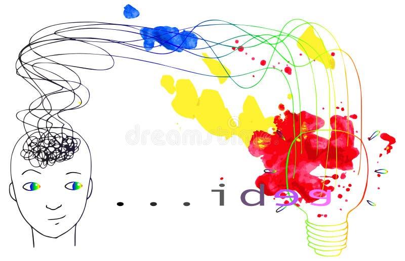 Nuovo vettore di concetto di idee illustrazione di stock