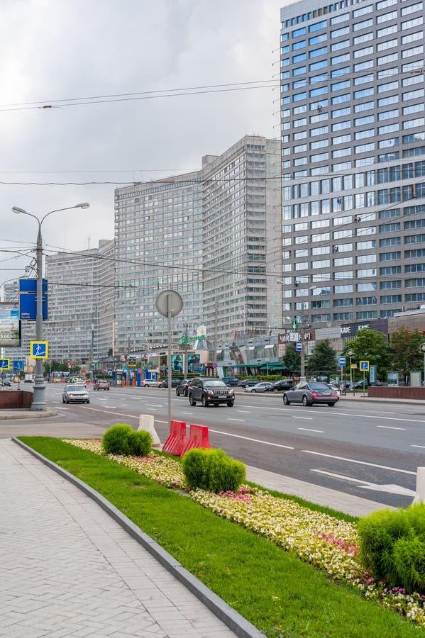 Nuovo viale di Arbat a Mosca fotografie stock libere da diritti