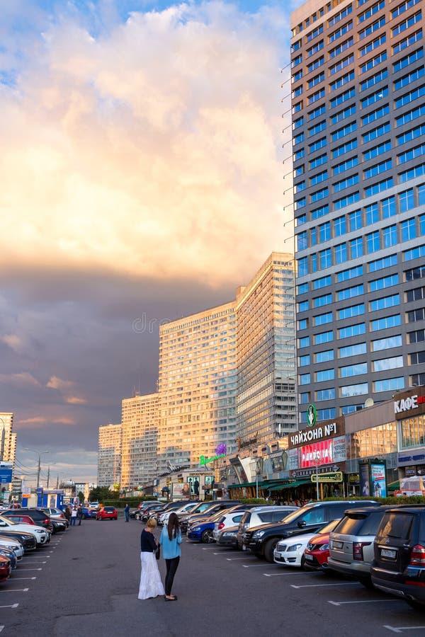 Nuovo viale di Arbat mosca La Russia fotografia stock