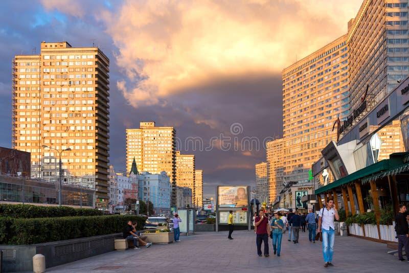 Nuovo viale di Arbat mosca La Russia immagine stock