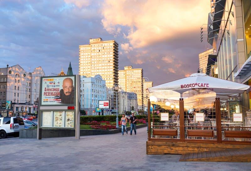 Nuovo viale di Arbat mosca La Russia immagini stock libere da diritti