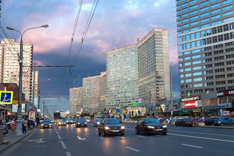 Nuovo viale di Arbat mosca La Russia fotografia stock libera da diritti