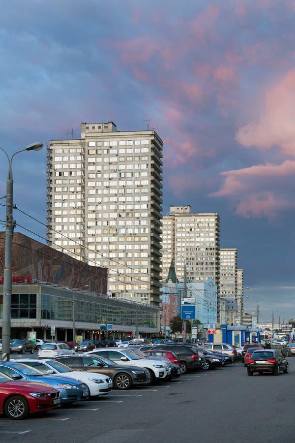 Nuovo viale di Arbat nella sera mosca La Russia fotografia stock libera da diritti