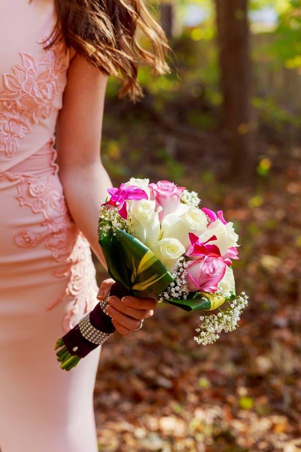 nupcial colorido del ramo de la boda imagen de archivo