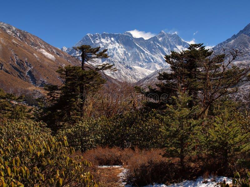 Nuptse-Lhotse@Everest royalty-vrije stock foto's