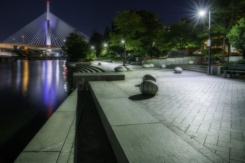 Nur in Boston nachts lizenzfreies stockbild