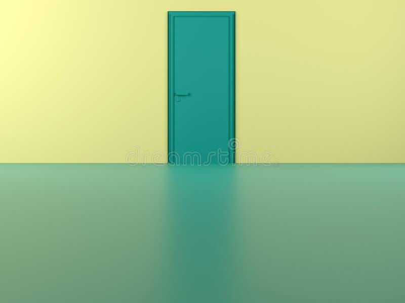 Nur eine Tür hier vektor abbildung