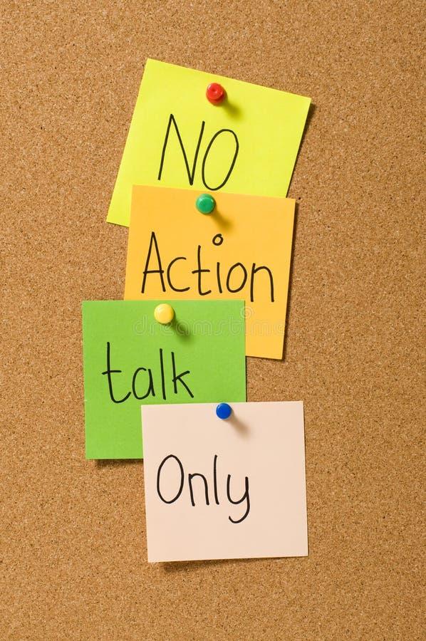 Nur kein Tätigkeits-Gespräch lizenzfreies stockfoto