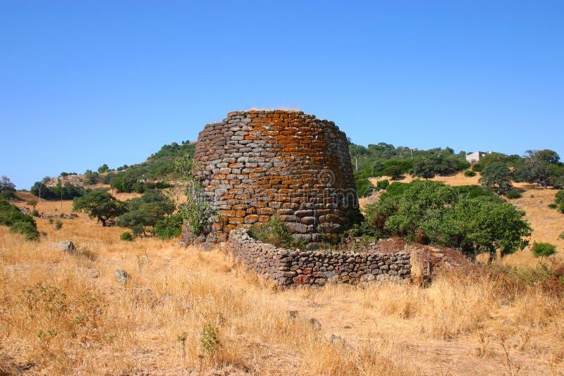 nuraghe史前废墟 库存图片