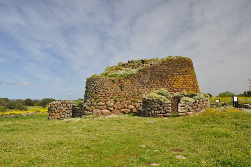 Nuraghe Losa in Sardegna fotografia stock