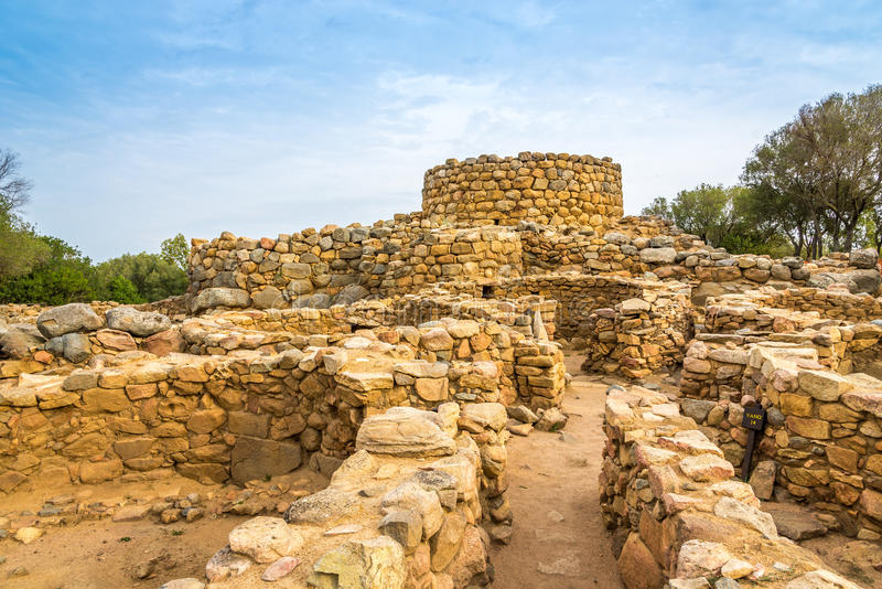 Nuraghe Prisgiona near Arzachena royalty free stock photos