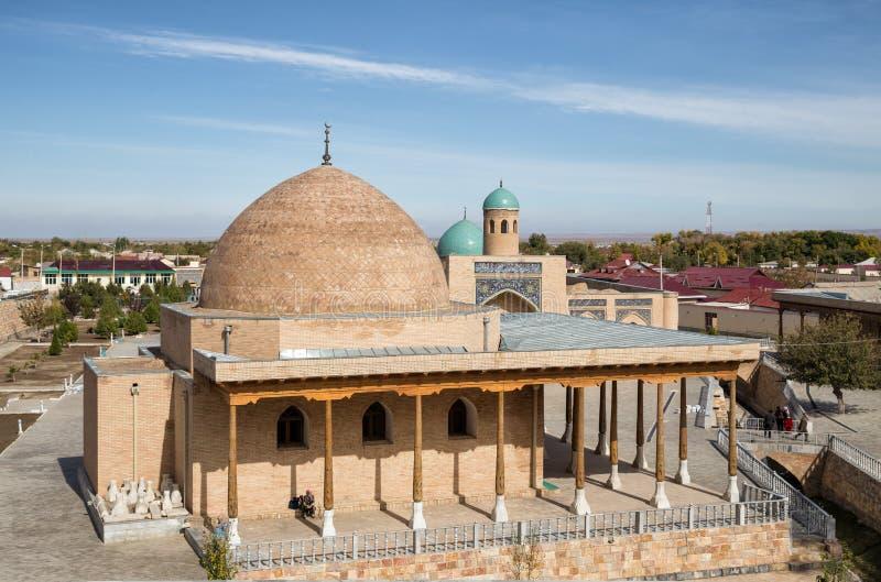 Nurata, l'Uzbekistan Due moschee fotografia stock