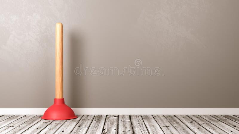 Nurek na podłoga z kopii przestrzenią ilustracja wektor