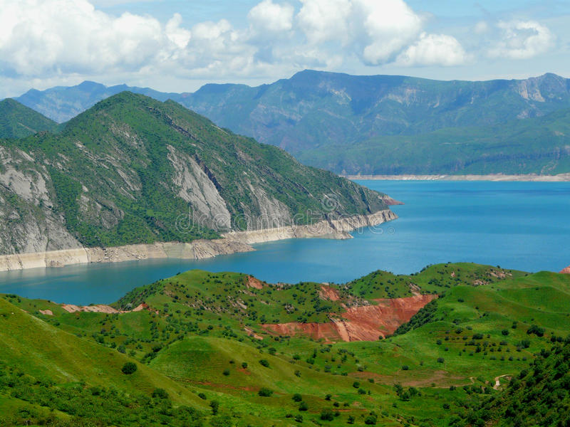 Nurek reservoir royalty free stock photography