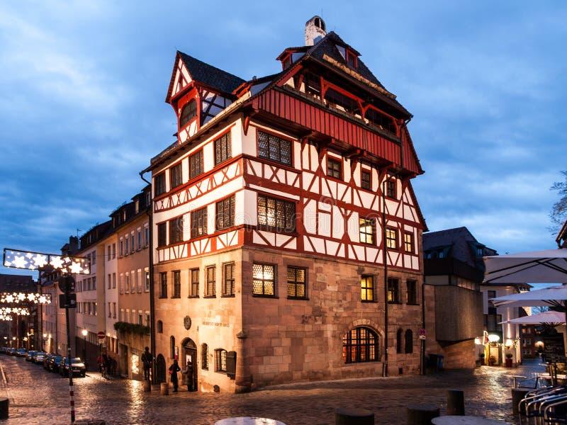 NUREMBERG, ALLEMAGNE - 4 DÉCEMBRE 2011 : Chambre d'Albrecht Durer, de peintre allemand de la Renaissance et de printmaker histori photographie stock