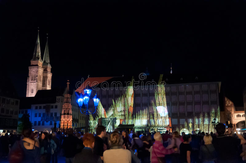 Nuremberg, Allemagne - meurent Blaue Nacht 2012 photo stock