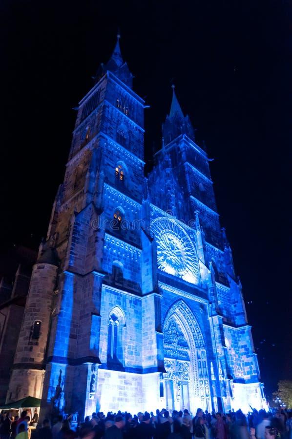 Nuremberg, Allemagne - meurent Blaue Nacht 2012 photo libre de droits