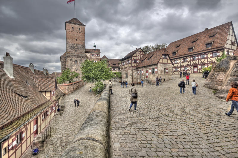Nuremberg Castle, Germany stock photos