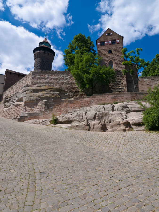 Nuremberg fortifications stock photo
