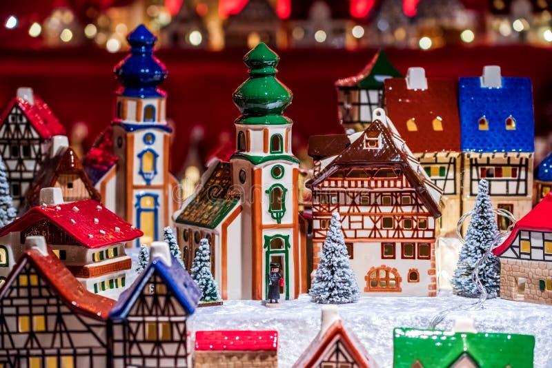 Nuremberg, Francia - Mercado de Navidad en Alemania foto de archivo libre de regalías
