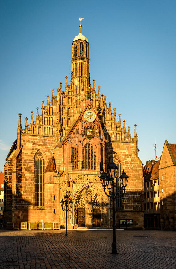 Nuremberg. Frauenkirche (Our Lady's Church) in Nuremberg, Bavaria, Germany stock photo