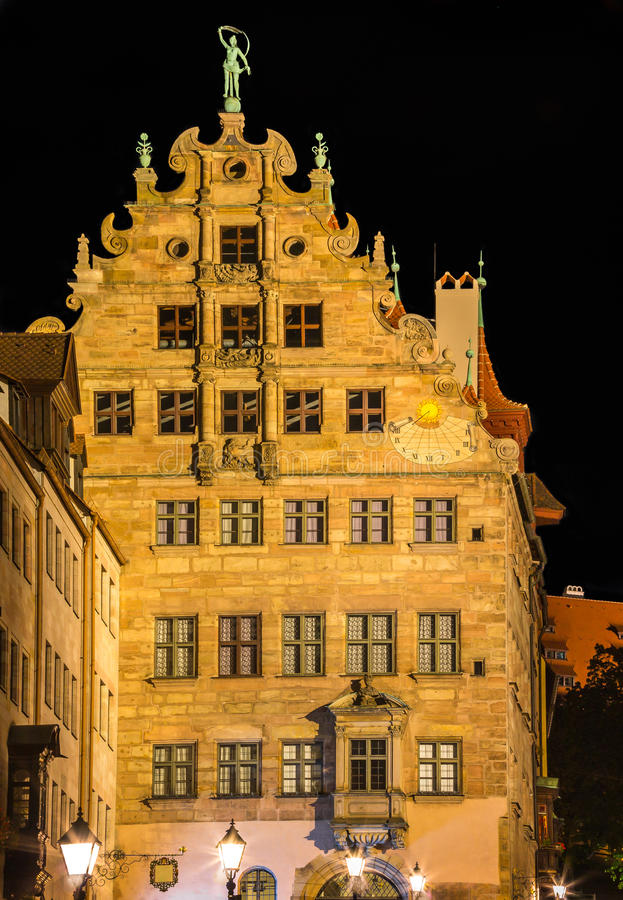 Nuremberg, Germany-beautiful renaissance building stock photos