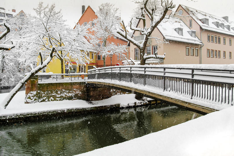 Nuremberg, Germany -snowy day royalty free stock photos
