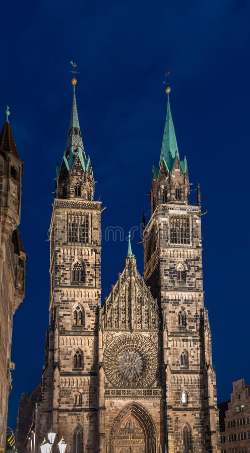 Nuremberg-Germany-St.Lawrence church (Lorenzkirche) royalty free stock photos
