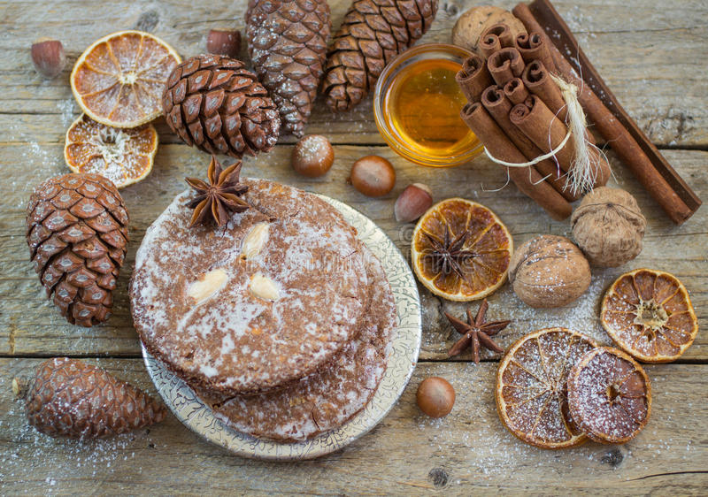 Nuremberg gingerbread is a traditional Christmas treat royalty free stock photography